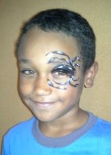 spider on eye close up
